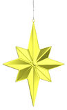 Golden christmas star decoration Royalty Free Stock Images