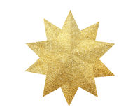 Golden Christmas star isolated on white. Background stock photo
