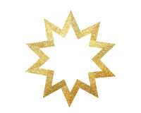 Golden Christmas star isolated on white. Background stock image