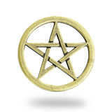 Golden Christmas Star. Isolated on white background with clipping path stock photos