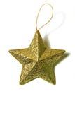 Golden christmas star. Simbol of New Year stock photography