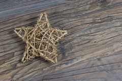 Golden Christmas star. stock photography