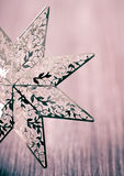 Golden Christmas star in a vintage style Royalty Free Stock Images