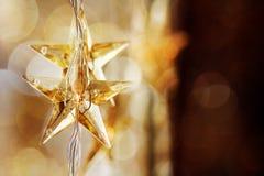 Golden Christmas stars Royalty Free Stock Image
