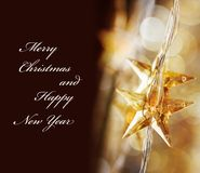 Golden Christmas stars Royalty Free Stock Photos