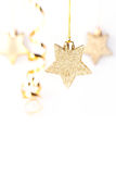 Golden christmas stars Stock Images