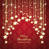 Golden Christmas Stars Curtain Royalty Free Stock Photography