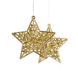 Golden Christmas stars decoration Stock Photography