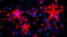 Golden Christmas stars glittering in red background vector illustration