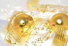 Golden Christmas Still Life Royalty Free Stock Images