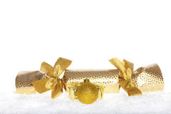 Golden Christmas surprise Stock Image