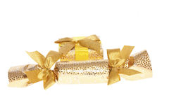 Golden Christmas surprise Royalty Free Stock Photography
