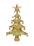 Golden christmas-tree Stock Photos