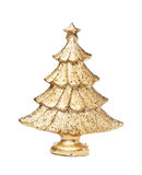 Golden christmas-tree Stock Photography