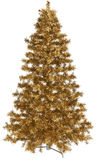 Golden Christmas tree Stock Image