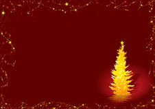 Golden Christmas Tree Royalty Free Stock Photography