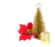 Golden Christmas Tree Stock Photos