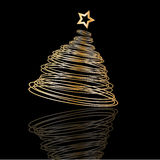 Golden Christmas tree background Royalty Free Stock Photos
