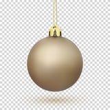 Golden Christmas Tree ball. Stock Image