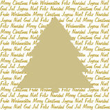 Golden christmas tree on christmas wishes Royalty Free Stock Images
