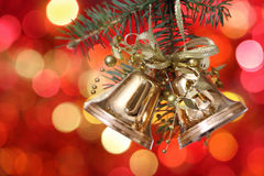 Golden Christmas Tree Decorations Royalty Free Stock Images