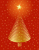 Golden Christmas tree design. Stock Image