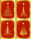 Golden Christmas tree design. Stock Photography