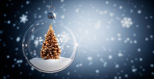 Free Golden Christmas Tree In A Christmas Ball Royalty Free Stock Photo - 155608215