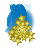 Golden christmas tree Stock Images