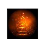 Golden Christmas Tree Stock Photo