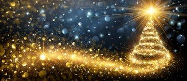 Golden Christmas Tree. Vector stock illustration