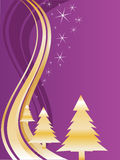 Golden christmas trees Royalty Free Stock Photo