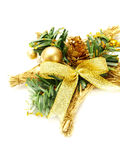 Golden Christmas wicker decoration Stock Image