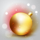 Golden Christmass decoration ball Stock Photos