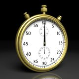 Golden chronometer Royalty Free Stock Image