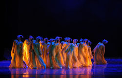 Golden chrysanthemums-The dance drama The legend of the Condor Heroes. In December 2, 2014, a large Chinese dance drama the legend of the Condor Heroes for the Stock Images