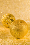 Golden chtistmas decorations. With clipping parh Stock Photography