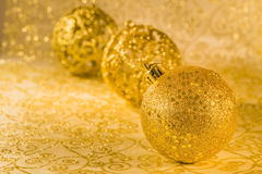 Golden chtistmas decorations. With clipping parh Royalty Free Stock Image