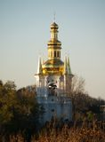 Golden church domes Stock Photography