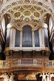 Golden Church Pipe Organ. In Italy, Europe Stock Photos