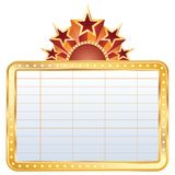 Golden cinema display Royalty Free Stock Images