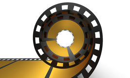 Golden cinema film Stock Photo