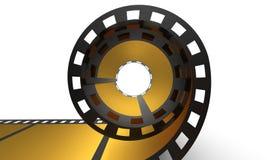 Golden cinema film Stock Photo