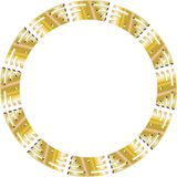 Golden circle Royalty Free Stock Photography