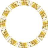 Golden circle royalty free illustration