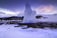 The Golden Circle in Iceland during winter stock photos