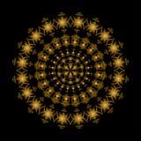 Golden circle ornament Royalty Free Stock Photos