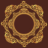Golden Circle Ornament Stock Images