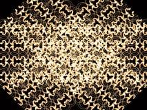 Golden circle rosette 2 Stock Image