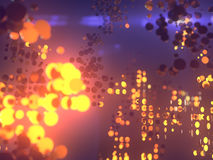 Golden circles abstract futuristic background. 3d rendering. Golden glowing circles. Abstract futuristic background. 3d rendering vector illustration